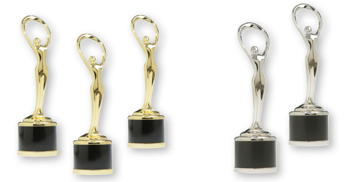 3 x Gold, 2 x Silber für kreative Botschaften der Agentur 2strom